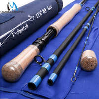 Maximumcatch 11 6 9WT 4PCS Switch Fishing Rod With Switchable Fighting Butts Rod Case Medium Fast