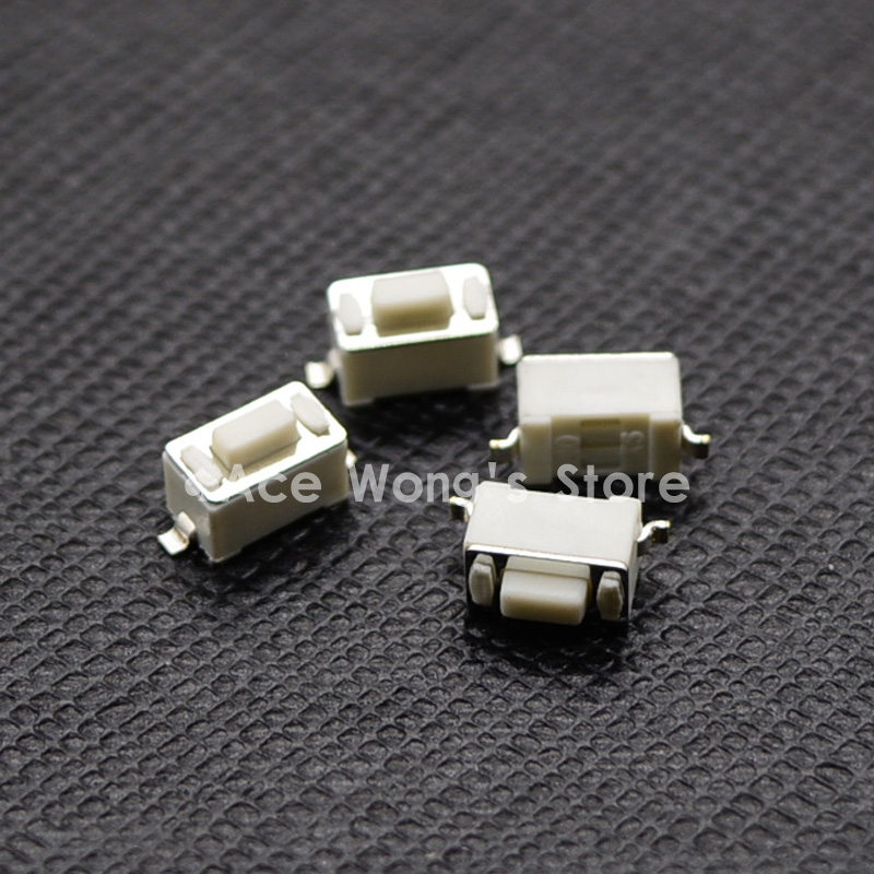 100PCS 2Pin SMD 3X6X4.3MM Tactile Tact Push Button Micro Switch Momentary 100 x smd smt pcb momentary 2 pin spst tactile tact switch 6mm x 3mm x 3 5mm
