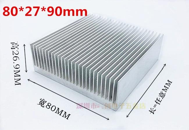 Fast Free Ship Aluminium Profile Dense tooth high-power radiator 80*27*90MM Aluminum Radiator CPU Module Power Supply Cooling c200h cpu03 cpu unit cpu module