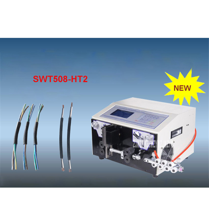 SWT508-HT2 Automatic Computer Wire Stripping Machine/ Cutting Machine 110V/220V 450W 0.2 - 10mm2 2000-5000 Strips/Hour Hot Sale