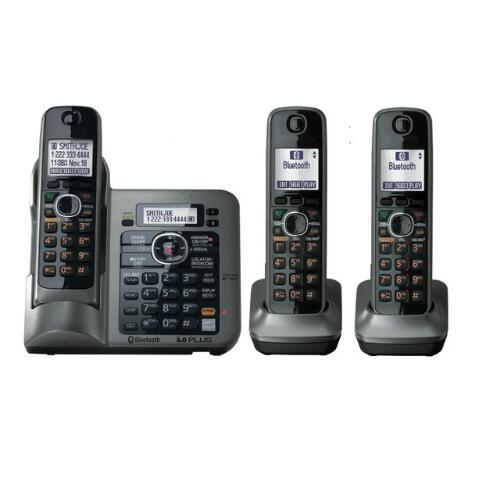 3 Combinés Numérique Sans Fil Téléphone Sans Fil DECT 6.0 lien-à-cellulaire Bluetooth Sans Fil Téléphone Avec Call ID Répondre À système