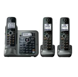 3 Handsets Digital Wireless Cordless Phone DECT 6.0 link-to-cell Bluetooth Cordless Telephone With Call ID Answering system