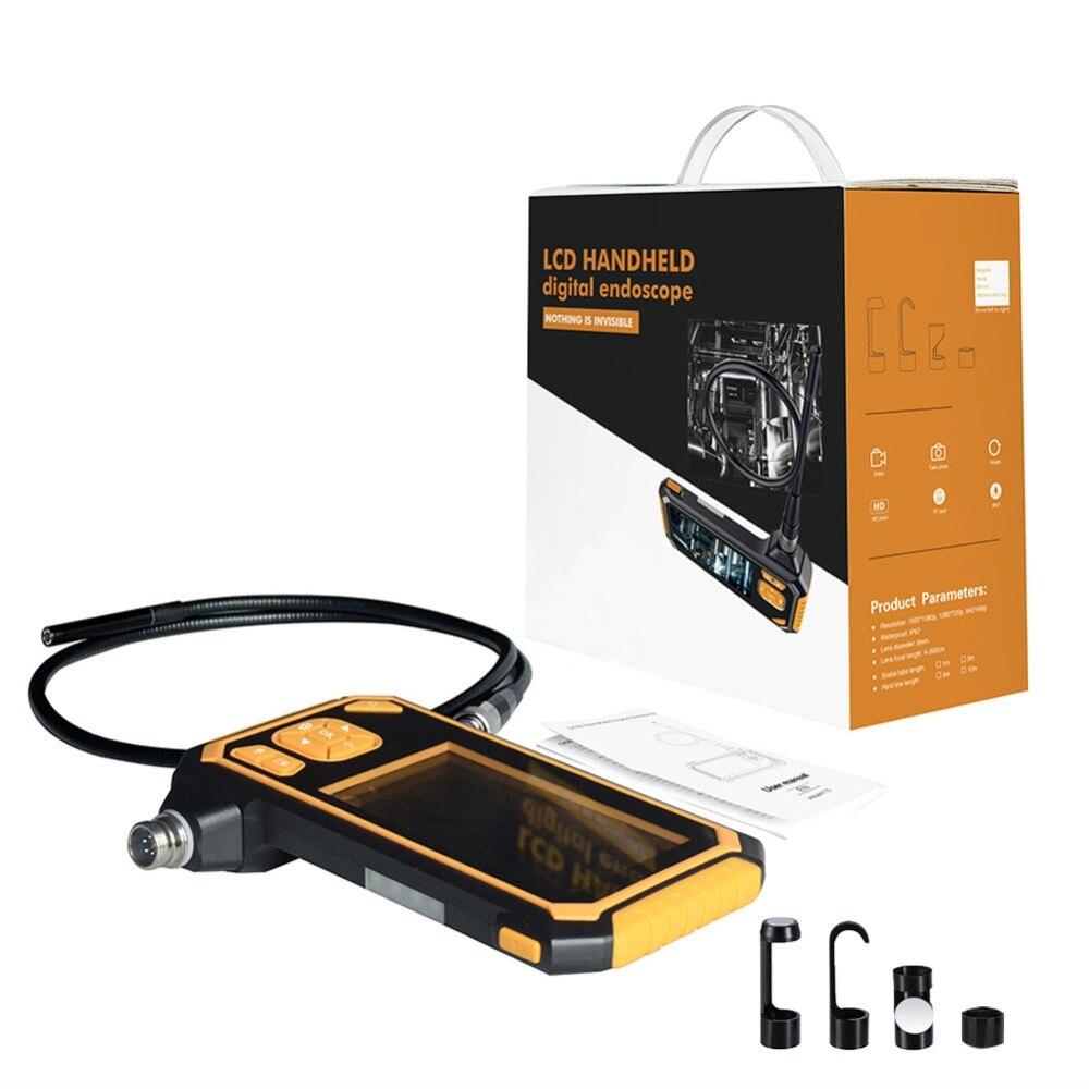 portátil handheld borescope videoscope com lcd de