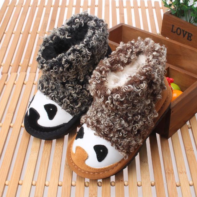 Venta caliente de Invierno Recién Nacido Bebé Botas de Nieve Caliente Zapatos Del Niño Interior Confortable Sólido-atado Cruz antideslizante Bebe botas