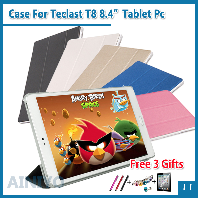 High quality PU Leather Case cover For Teclast T8 8.4 inch Tablet protective case+Screen protector gifts