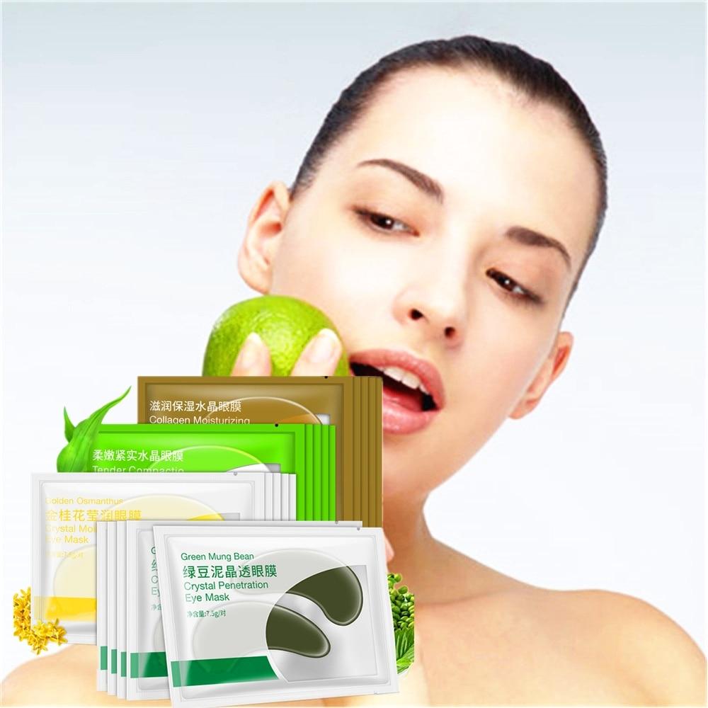 DISAAR 8PCS 4 Pair 24K Gold Eye Mask Collagen Eye Patches Dark Circle Puffiness Bag