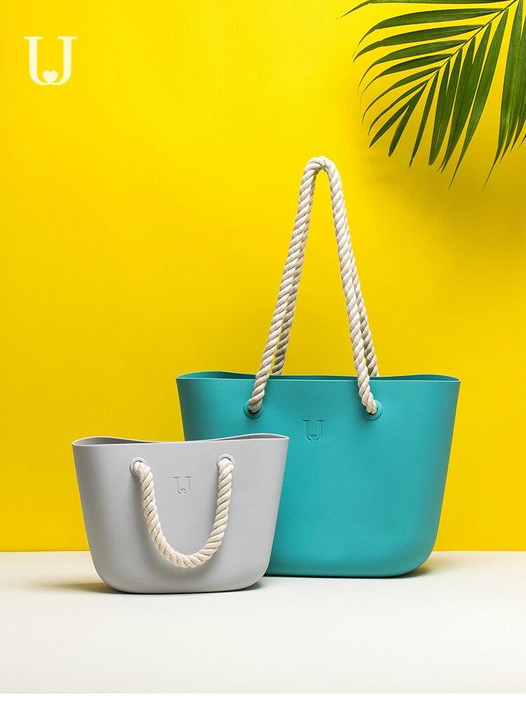 Nouveau 2019 Jordan & Judy Silicone sac de rangement étanche silice sac de plage voyage vêtements chaussure sac seau sac à bandoulière pour femmes
