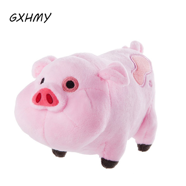 GXHMY Plush toys Gravity Falls Waddles Pink Pig Plush and stuffed animal pig Doll Toys 16CM