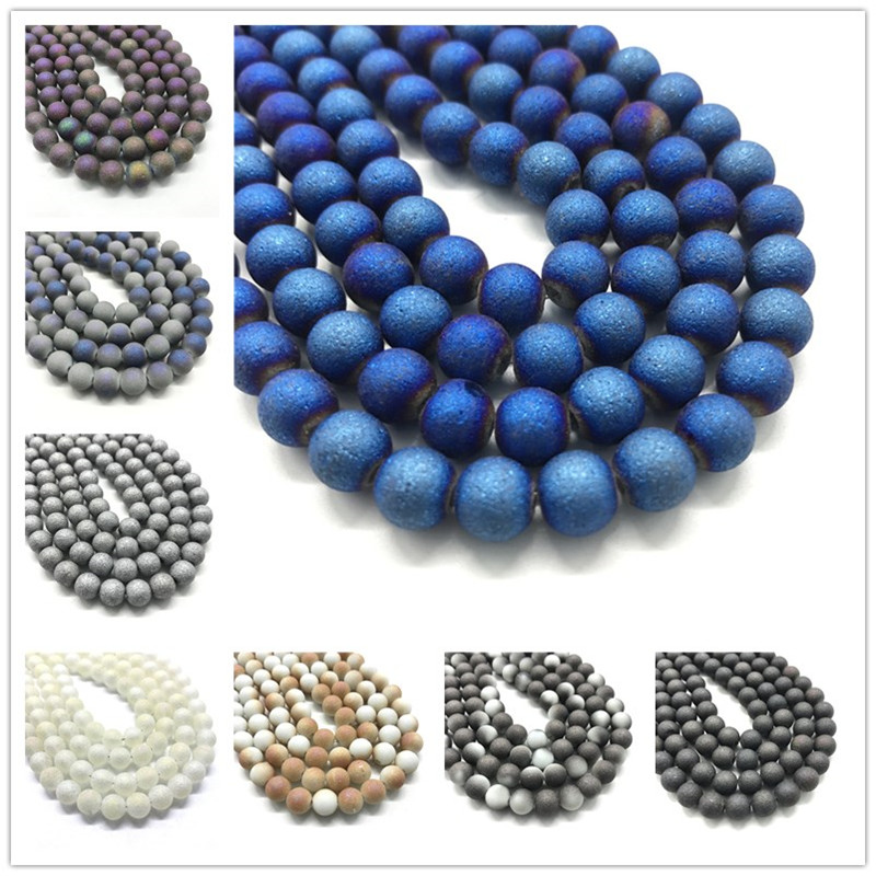 Natural Stone White Turquoises Howlite Round Beads For Beads Jewelry Making 4 6 8 10 12mm Gem Loose Beads Diy Bracelet Wholesale Convenient To Cook Beads Beads & Jewelry Making