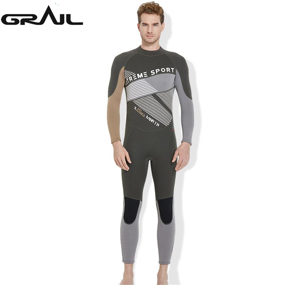 3MM Neoprene Full Body Wet Suit Men Diving Wetsuits Jump Suit Winter Warm Back Zip Wet Suit Rash Guards Scuba Swimwear WS-18491 nika jump winter sport yellow