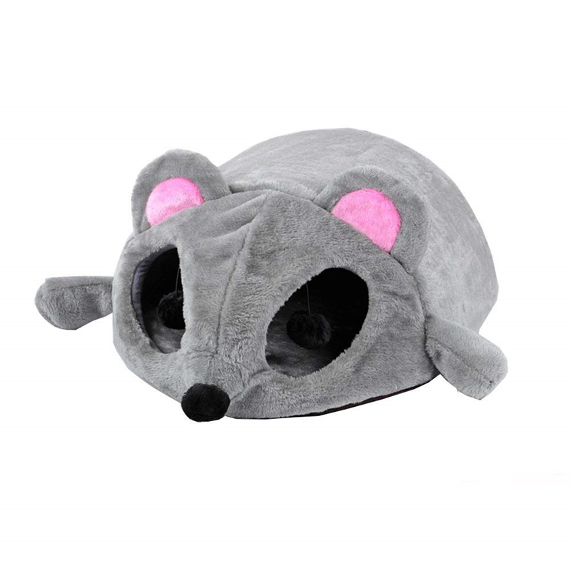 Cat Pet House Cave Bed With Removable Mat Cartoon Mouse Cushion Sleeping Bag Perch Tunnel for Small Cat Dog Kitten Ferret Rabbit panier pour chat pas cher