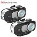 2 uds MORNYSTAR M1Pro 800m 4Riders grupo intercomunicador MP3 HD 1080P Video grabadora Cámara motocicleta Bluetooth intercomunicador casco auriculares