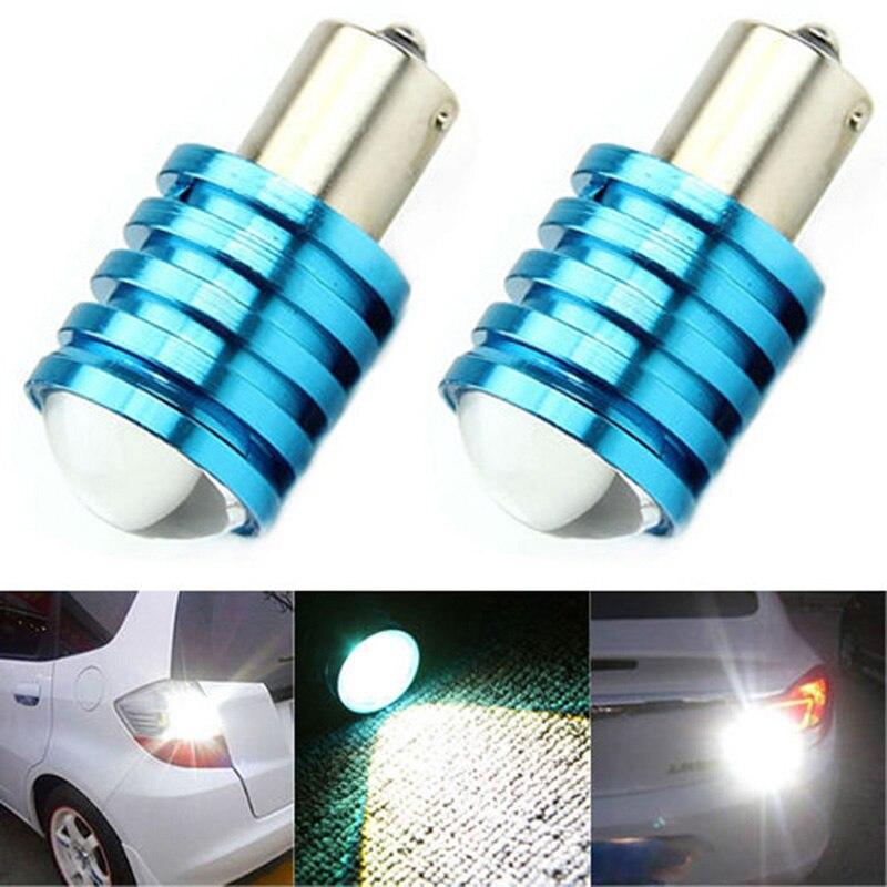2pcs High Quality 1156 BA15S P21W 7W LED Car Backup Reverse Rear Light Bulb White 2pcs 1156 ba15s p21w 15 led 2835 smd white drl fog tail backup reverse turn light lamp bulb dc12v