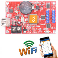 HD W60 75 WIFI Control card Asynchronous 320W * 32H Pixel 2 * HUB75 Data InterfaceRGB Full Color LED Display Cheap Diy Assembly