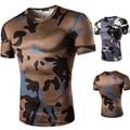 НОВЫЙ 3D Leopard Печатных Сексуальные Мужчины O шеи Бодибилдинг Тонкий Fit Военный Камуфляж футболки Стильная мужская Повседневная футболка 2016 MQ277