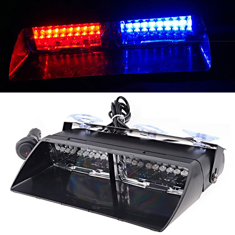 8 LED 8W Strobe Light Aluminum Alloy Flash Lamp Dash Emergency Warning SY K