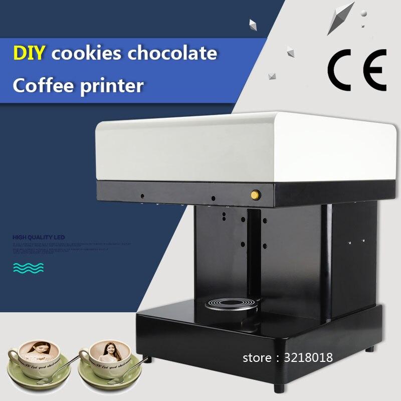 Usine directe Offre Spéciale Cappuccino 3d/Gâteau Selfie Latte Art Café Face À L'imprimante Machine/Chocolat Imprimante avec de La Nourriture encre