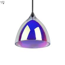 цены Stained Glass Pendant Lights Bedroom Living Room Dining Room Kitchen Restaurant Post-modern Romantic Atmosphere Led Hanging Lamp