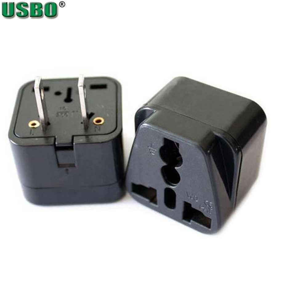 Venta al por mayor negro whtie 250v 10A 250V cobre Universal EE. UU. Enchufe de corriente alterna América Canadá Japón adaptador de viaje hembra convertidor