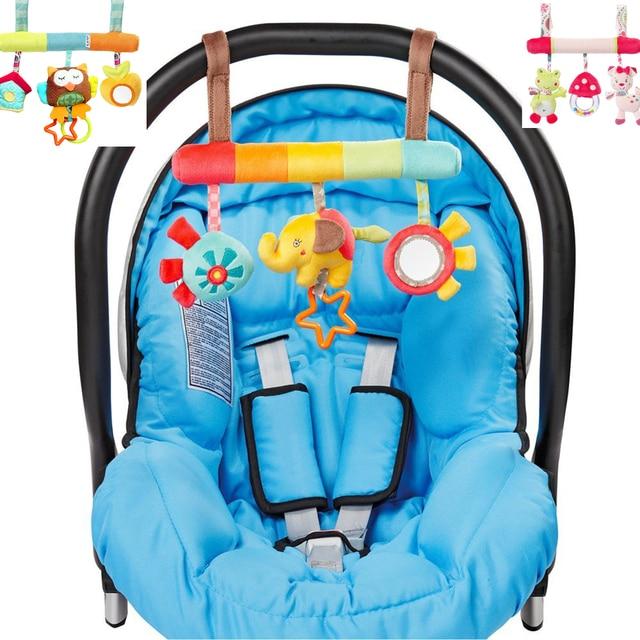 Baby Bett Rassel Elefant Frosch Eule Kinderwagen Hängen Puppe