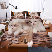 HELENGILI 3D Bedding Set C Print Duvet Cover Lifelike Bedclothes with Pillowcase Bed Home Textiles #WZ-131