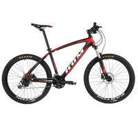 Gratis verzending carbon mountainbike 27/30 speed lichtgewicht dubbele olie schijfrem langlaufen speed bike 26 inch fiets