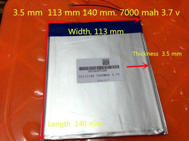 3.7 V 35113140 bateria dual core, gemei G6T, VI40 dual core, A11 Quad-Core, tablet pc bateria 7000 MAH SGR241