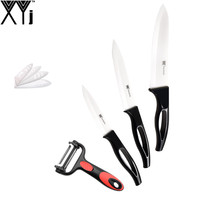 4 5 6 Inch Best Kitchen Knife XYJ Non Slip Balck Handle Ceramic Knife With One