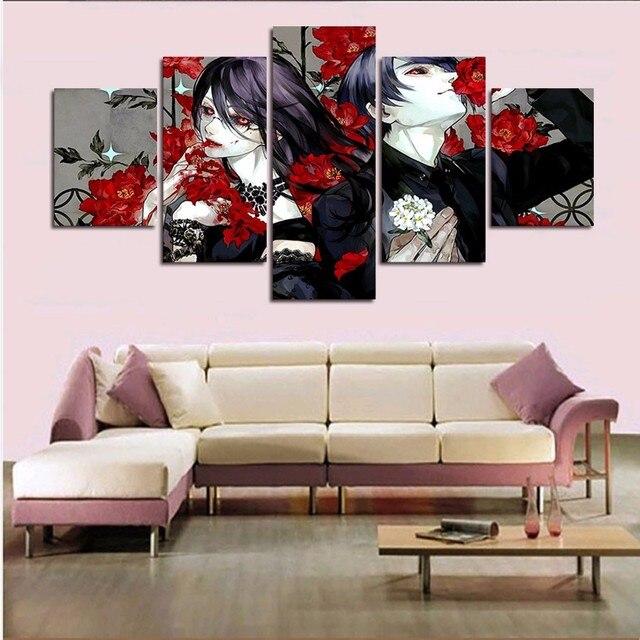 Modulaire Peinture  Panneau Horreur Anime Wall Art Toile Peinture