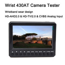 Free Shipping!Wristband 4.3″ Screen HD-TVI/AHD+CVBS CCTV Camera Test Monitor Tester 12V-Output