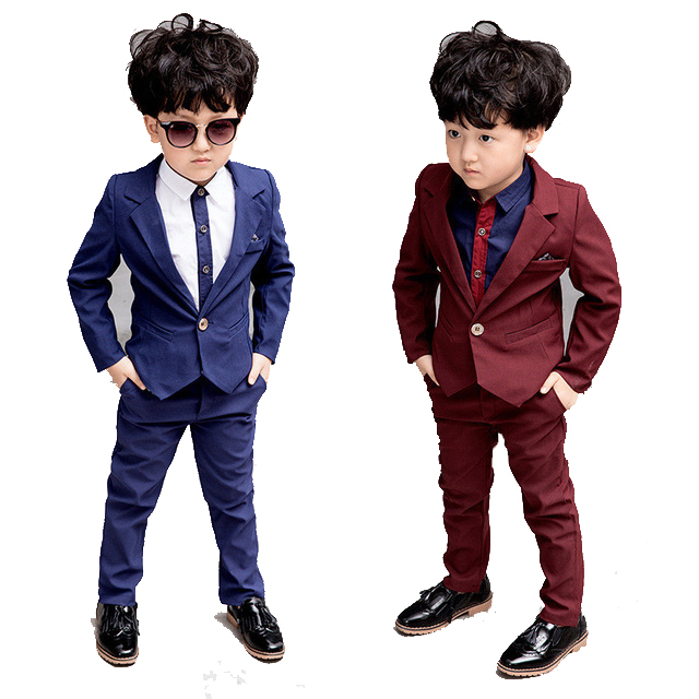 new 3 4 5 6 7 8 9 10 years baby boys' loose-fitting clothing sets kids clothes Cost-effective suit Wedding children 's suit set цена