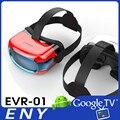 2016 NOVA EVR01 capacete rk3126 imersiva de realidade virtual 3D VR máquina Tudo Em UM suporte WI-FI E cartão TF