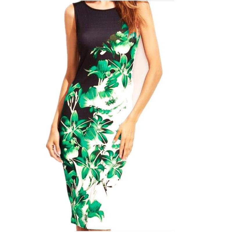 5XL-Large-Sizes-2019-Summer-Fashion-Sleeveless-Print-Dress-Slim-Bodycon-Pencil-Midi-Office-Dress-Robe (4)