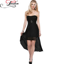 JAEDE Chiffon A Line with Short Sleeved Jacket Lace up Back Party Dresses 2017 E428 Sweetheart Neck High Low Bridesmaid Dresses