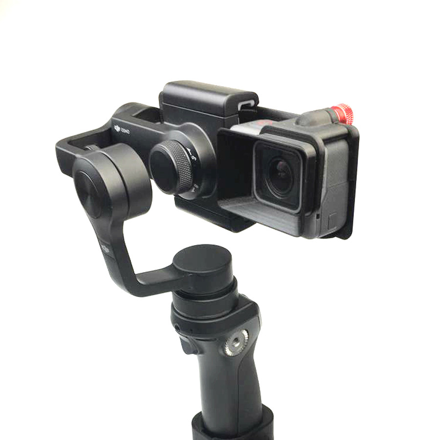 DJI OSMO Mobile Handheld Gimbal Turn Switch Mount Plate Camera Lens Sun Shade Hood for Gopro hero 5 DJI OSMO Z1-Smooth Zhiyun 8