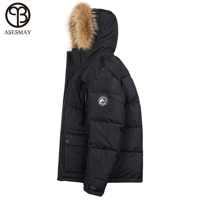 dcfafb2451ba2 Asesmay new arrival winter jacket men military parka with fur hood russian  winter coats and jackets thick warm padded plus size
