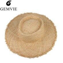 Floppy Raffia Large Brim Straw Hat Dome Jazz Caps Sombrero Fashion Ladies Beach Hat Outdoor Summer Sun Hats For Women