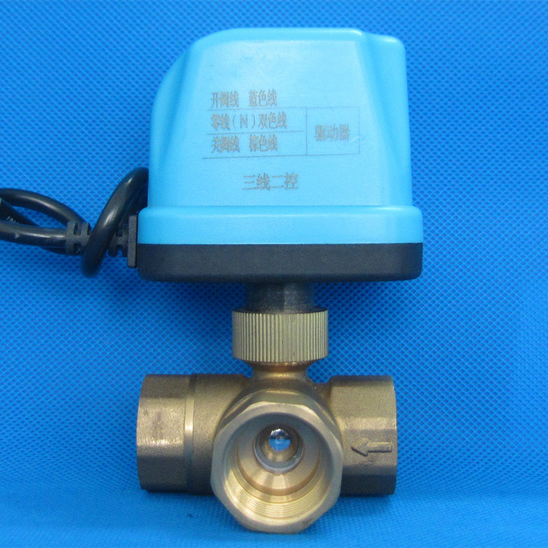 DN15-DN40 DC5V DC12V AC24V AC220V 3 way Three line two way control valves electric motorized ball valve L typle ball valve цена