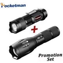 bf785d419 Venta caliente LED linterna XML-T6 táctico + Linterna + Q5 Mini antorcha de  Lanterna Zoomable linterna impermeable bi.