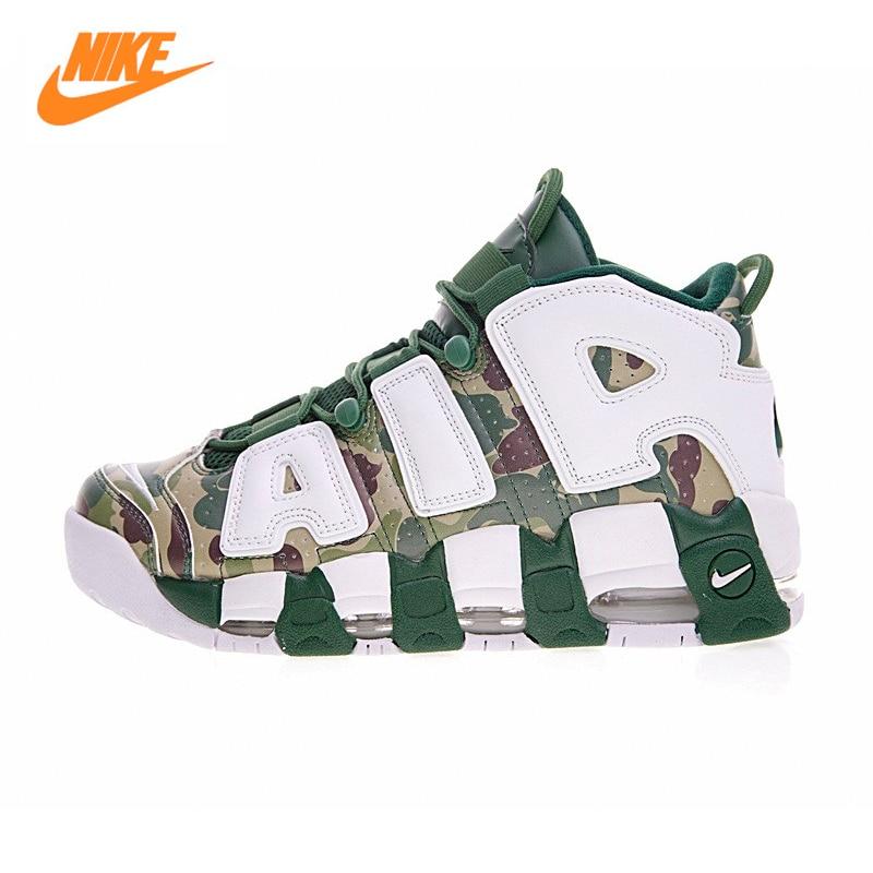Nike AIR MOREUPTEMPO 96 Men Basketball Shoes,Breathable Warm Comfortable Pippen Outdoor Sports Basketball Shoes 921948-602 original li ning men professional basketball shoes