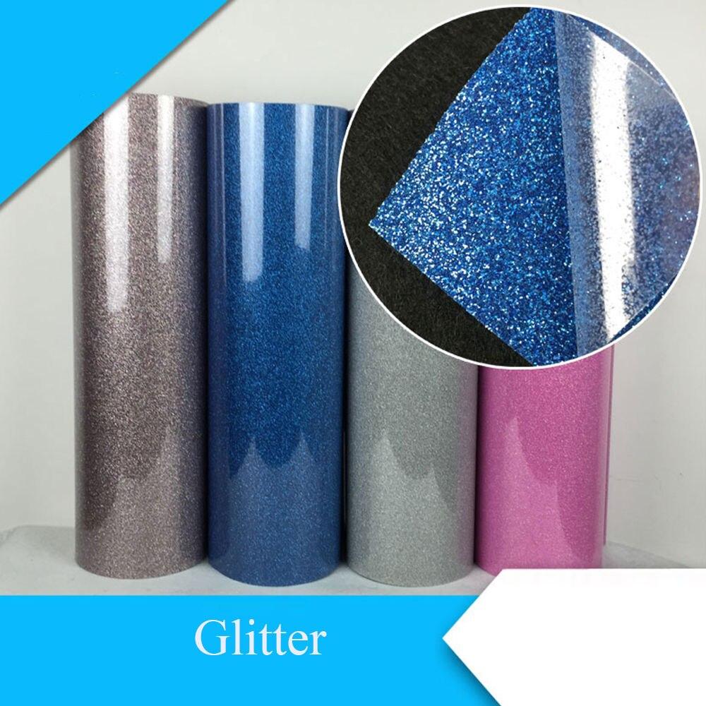 50x100cm Glitter Heat Transfer Vinyl Film Heat Press Cut by Cutting Plotter DIY font b T