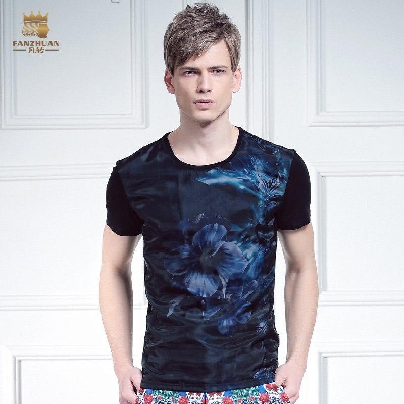 Livraison décontracté 2016 nouveaux Designers hommes mode chemise à manches courtes courte été slim Eugen 3D T-shirt en vente 615048