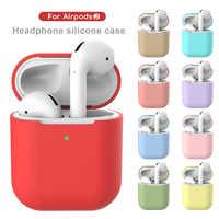 Trasduttore auricolare Per Il Caso di Apple AirPods 2 Del Silicone Della Copertura Senza Fili di Bluetooth Cuffia Baccelli di Aria Del Sacchetto di Protezione Per AirPod Caso Silm