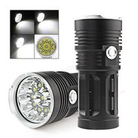 SecurityIng 11 x XML T6 LED 2600LM Powerful LED Flashlight Rechargeable Torch Waterproof Super Bright Fishing Flash Light Torch
