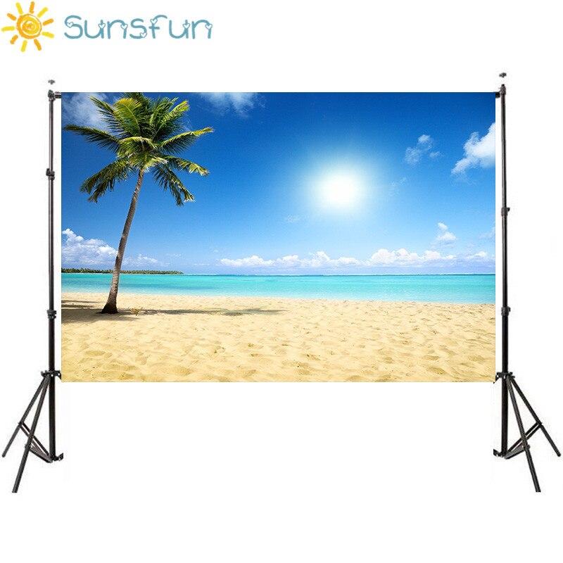 Sunsfun Children Photographic Backgrounds Vinyl Photo Backdrops Toile De Fond Backdrop Summer Beach Backgrounds For Photo Studio