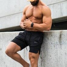 2019 Summer New Fashion Brand Men Gyms Shorts Zipper Patchwork Fitness Bodybuilding Short Pants Kneel Length 3 Color