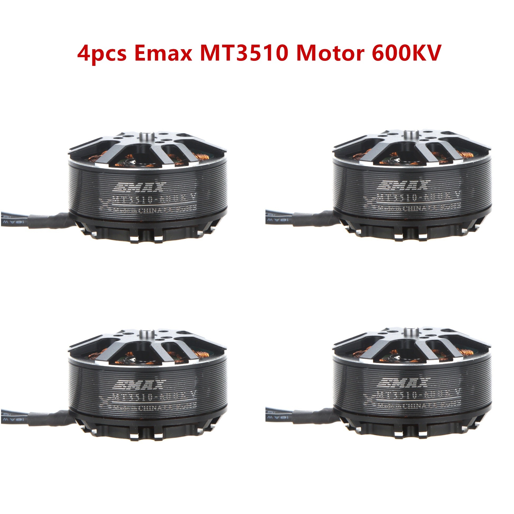 4PCS EMAX Brushless Motor MT3510 600KV KV600 Plus Thread Motor for RC FPV Multicopter Quadcopter Part 4set lot original emax brushless motor mt3110 700kv kv480 plus thread motor cw ccw for rc fpv multicopter quadcopter
