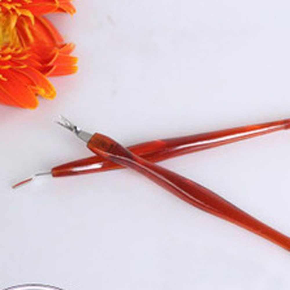 1 adet Profesyonel Yeni Paslanmaz Çelik tırnak eti itici Tırnak Sanat Çatal Manikür Aracı Trim Için Ölü Cilt Tırnak Eti Renk Rastgele