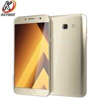 Новый Samsung Galaxy A7 2017 A720F DS 4 г LTE мобильный телефон 5,7 3 ГБ оперативной памяти 32 ГБ ROM восьмиядерный 3600 мАч Dual SIM смартфон