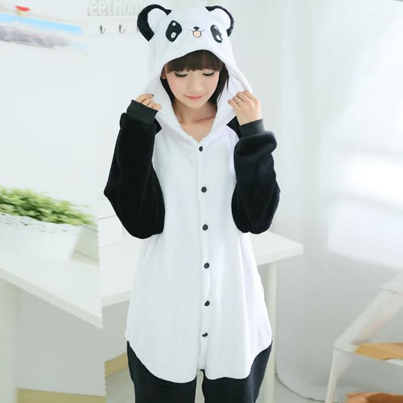 Adult Anime Kigurumi Onesie Kungfu Panda Costume For Women Animal Tiger Party  Onepieces Sleepwear